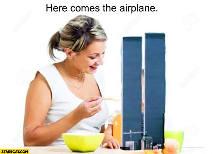 here-comes-the-airplane-feeding-kid-wtc-towers-terrorist-attack